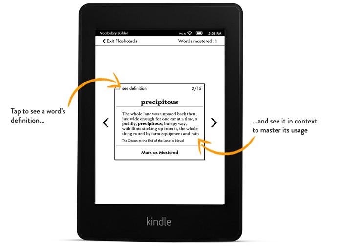 flashcards, flashcards Kindle, fiszki, fiszki Kindle, słownictwo, nauka Kindle, czytnik, e-book