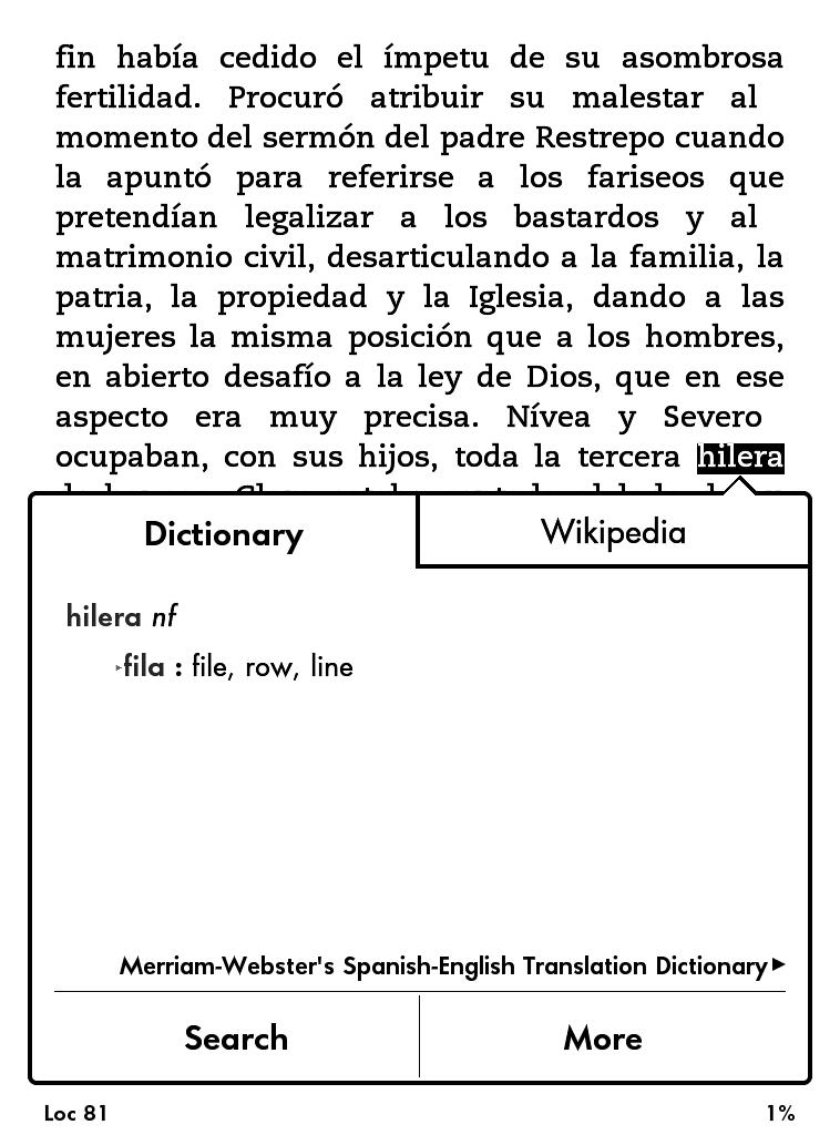 vocabulary bulider Kindle, karta słowa , definicje, użycie słowa, , karta książki Kindle, czytnik,e-book, ustawienia, słownik