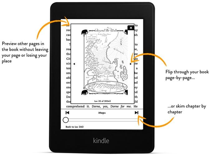 Zmiana orientacji Kindle, zmiana czcionki Kindle, Interlinia Kindle, marginesy Kindle, time to read, Page Flip, przypisy kindle, interlinia kindle,