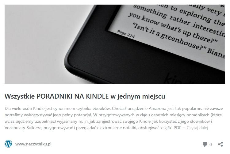 Wszystkie poradniki na Kindle - odnośnik