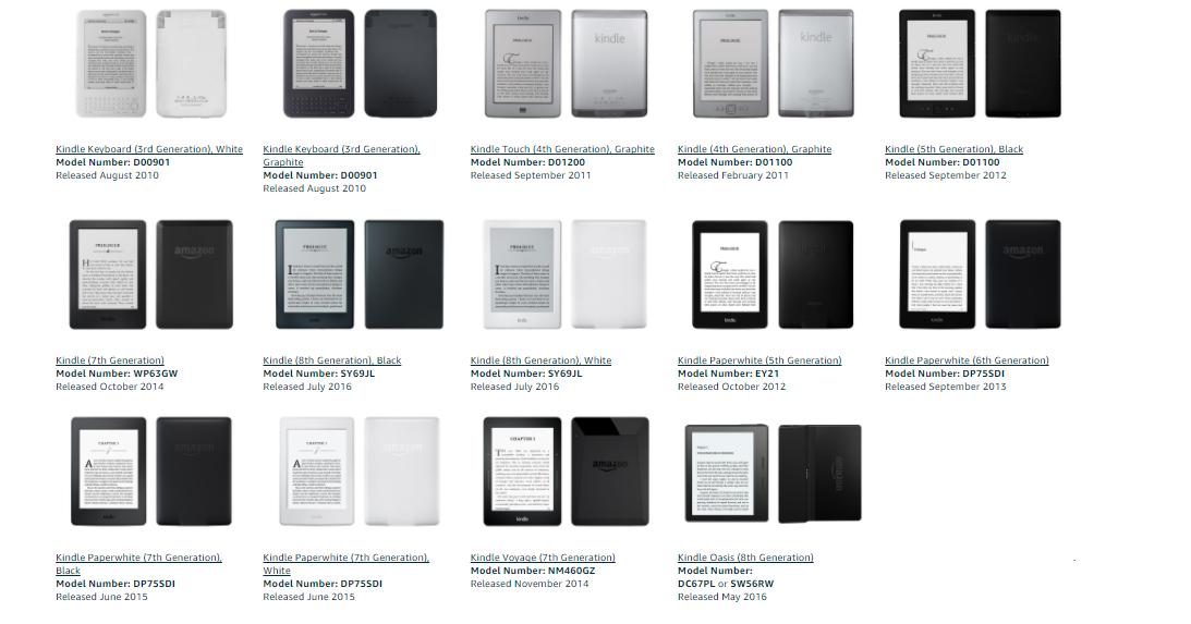 Wymień swój stary czytnik Amazon na nowy.