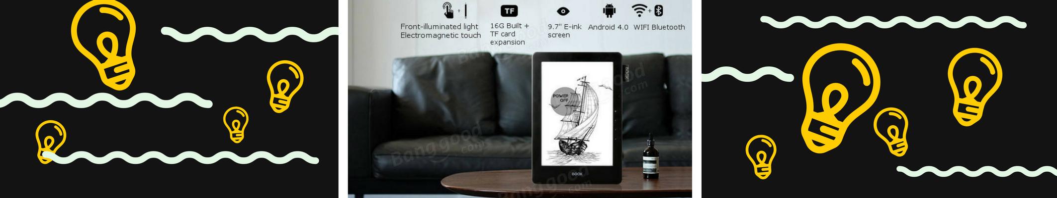 ONYX BOOX N96ML 9.7″ Carta to czytnik e-booków z przednim oświetleniem i rysikiem dotykowym.
