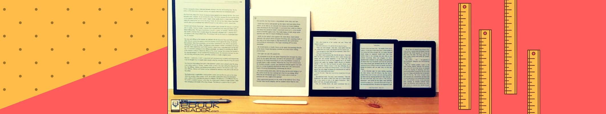 Sprawdź, czytniki o różnych wielkościach ekranów E-Ink - wideo