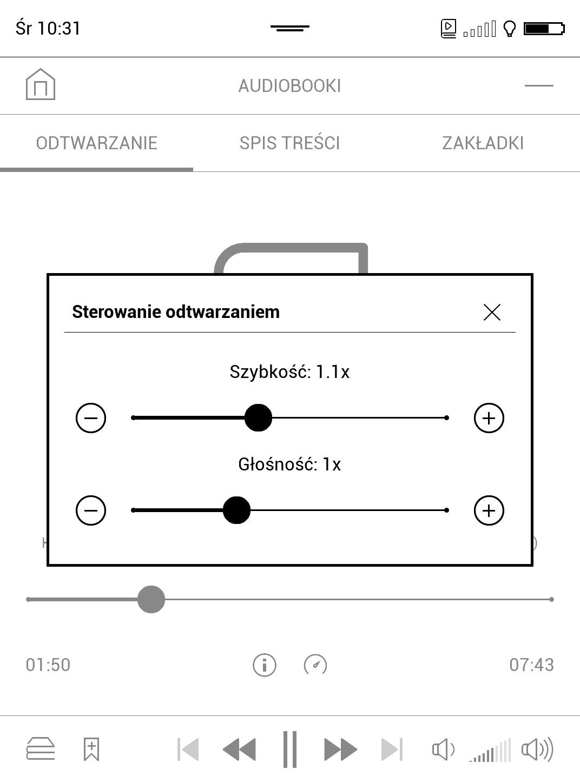 audiobooki - odtwarzanie