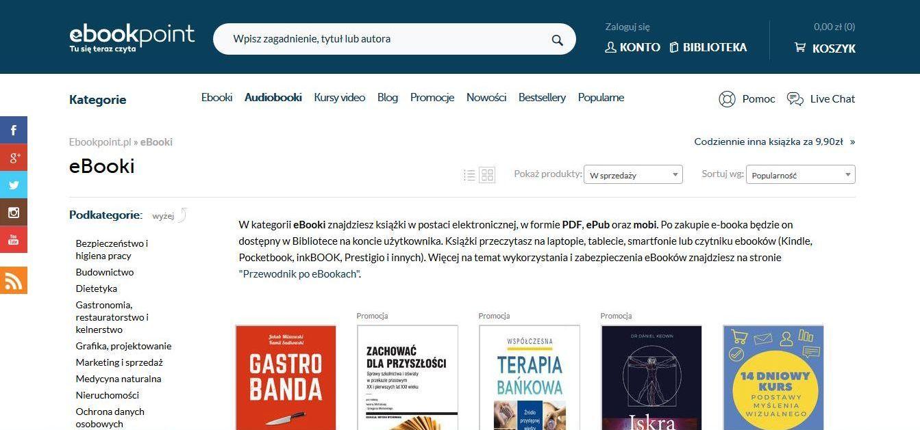 Ebookpoint - sprzedawaj swoje ebooki w Internecie
