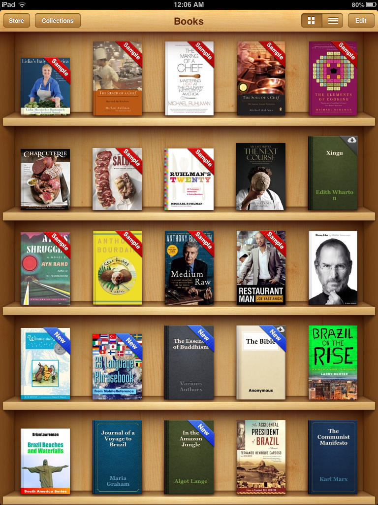 Apple Books - pogląd panelu