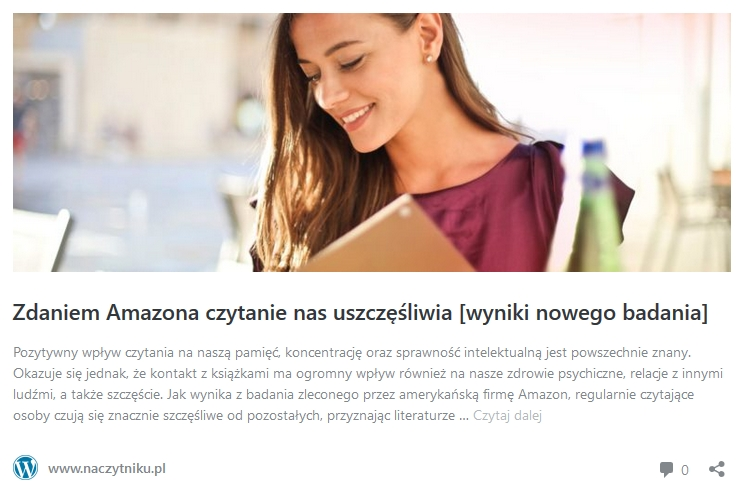 Z najnowszego raportu Amazona wynika, że czytanie uszczęśliwia