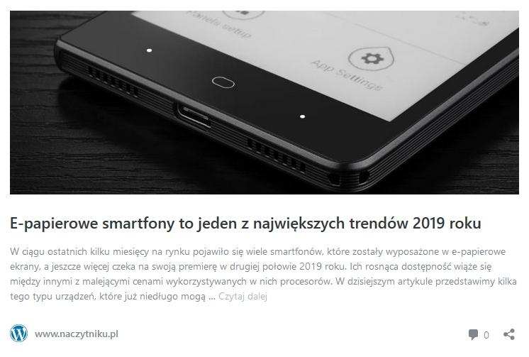 e-papierowe smartfony - odnośnik do artykułu