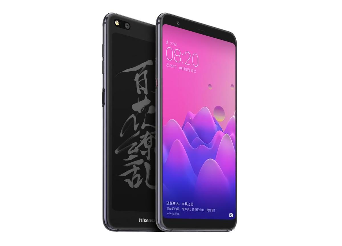 HIsense A6 - smartfon z dwoma ekranami z przodu i z tyłu
