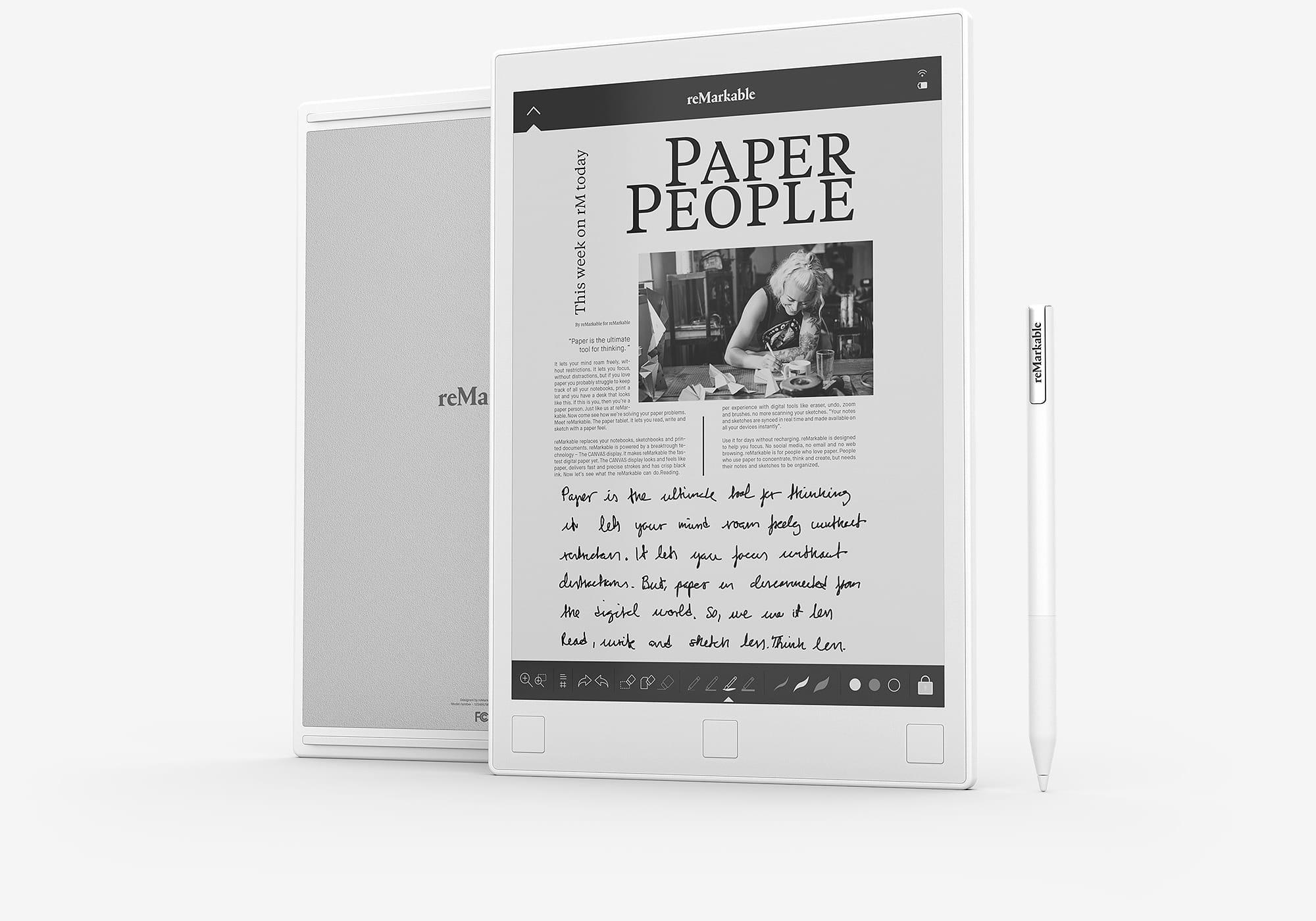 reMarkable - tablet przeznaczony do robienia notatek