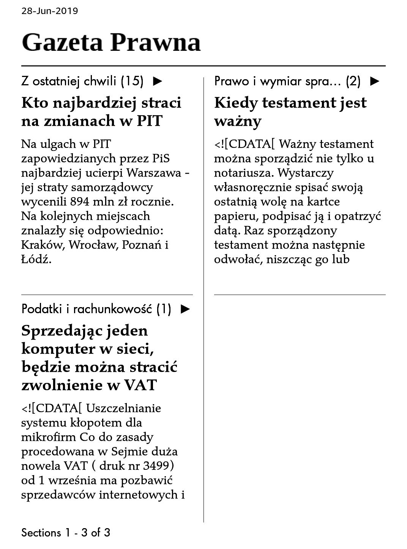 gazeta prawna na czytniku ebooków