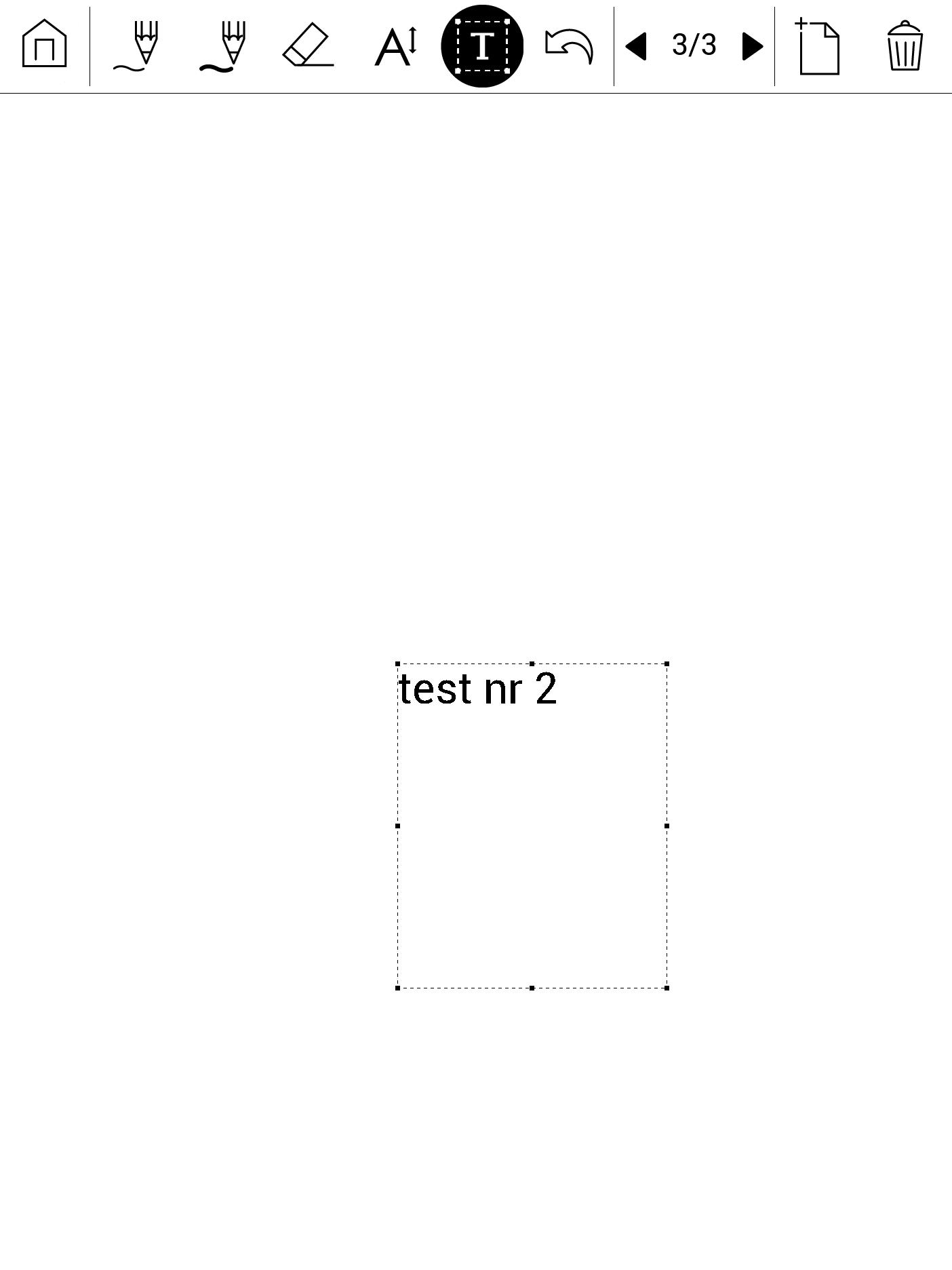 Wprowadzanie tekstu w usłudze odręcznych notatek na PocketBooku
