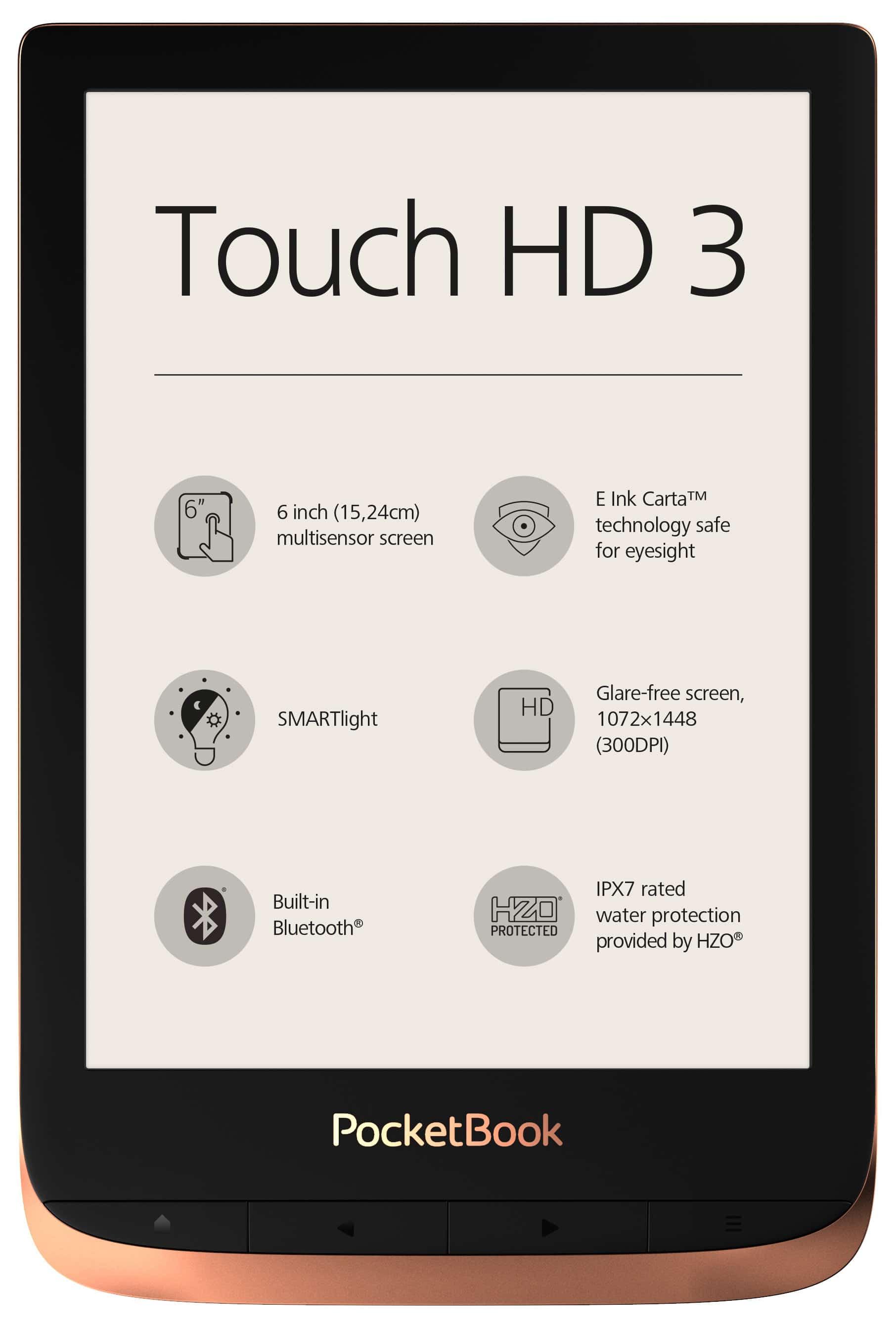 Wodoodporny czytnik Pocketbook Touch HD3