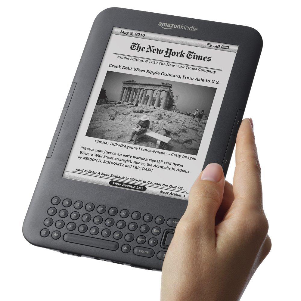 Kindle 3 - przyciski na krawędzi ekranu