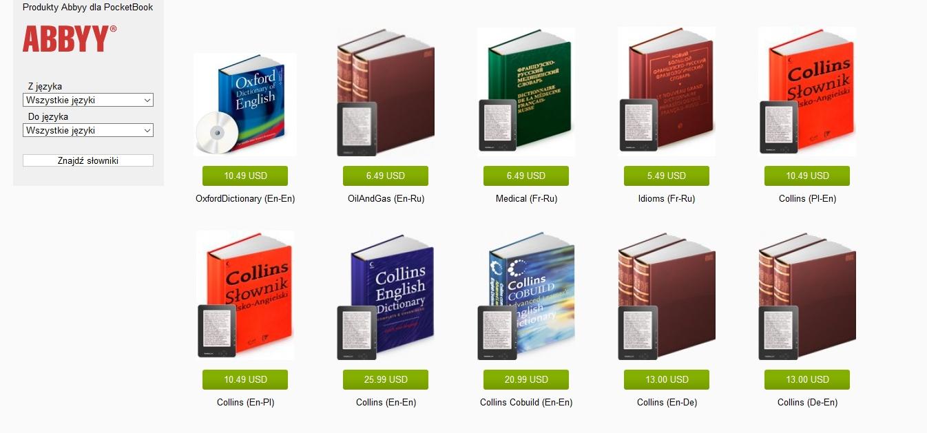 Bookland.com – wybór słowników do kupienia