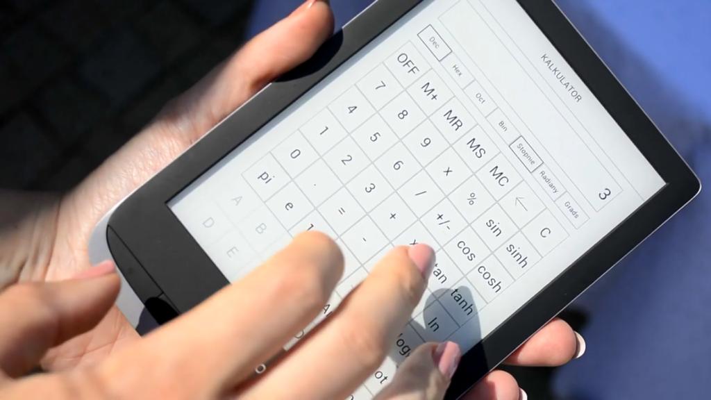 Kalkulator na czytniku PocketBook