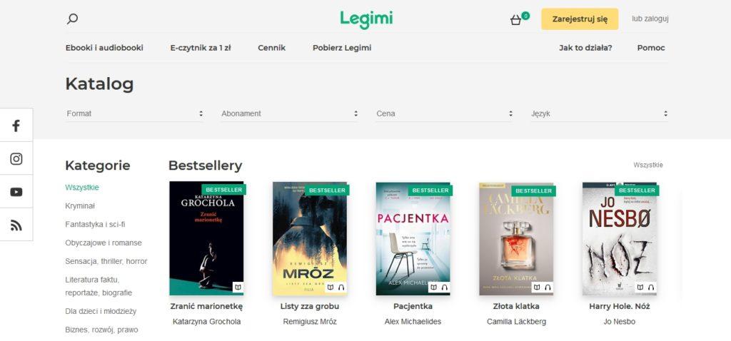 Wyszukiwarka ebooków w serwisie Legimi