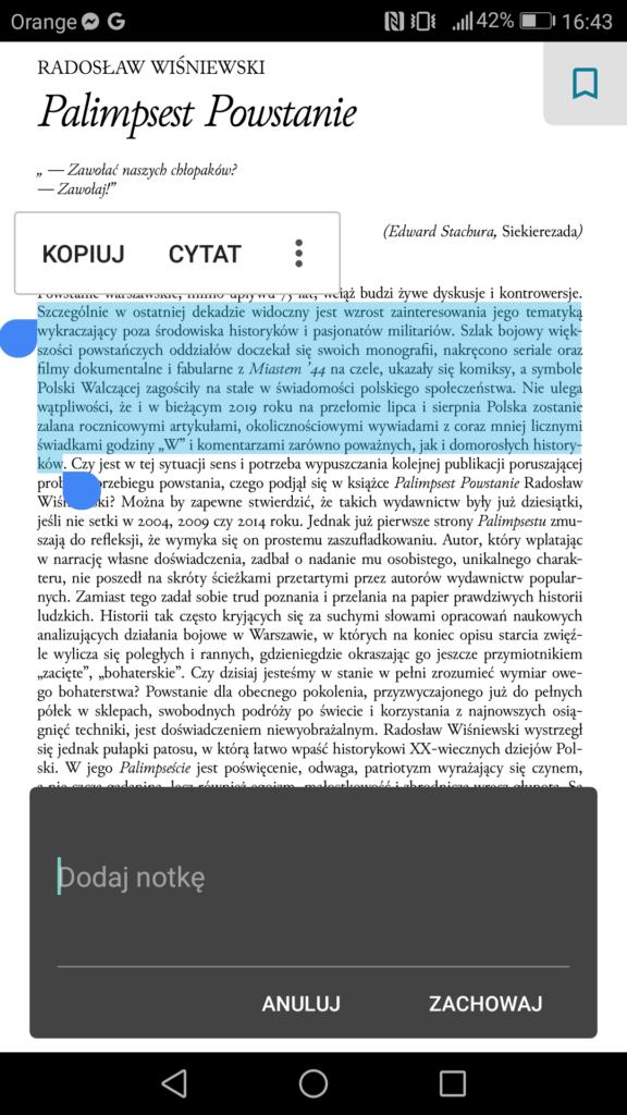 Dodawanie notatek w pliku PDF