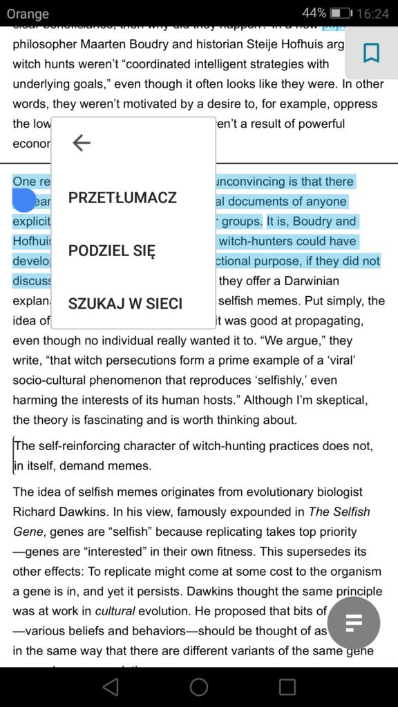 Tłumaczenie fragmentów tekstu za pomocą Google Translatora