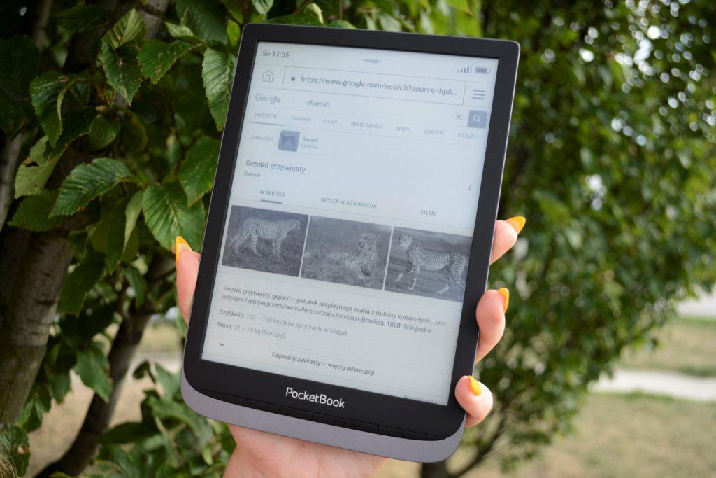 Dzięki mocnemu procesorowi PocketBook InkPad 3 Pro pozwala na płynne przeglądanie sieci