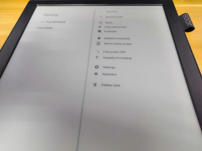 Obsługa Evernote na czytniku ebook Onyx