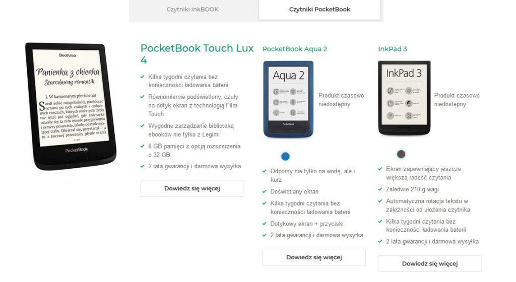 Czytniki PocketBook w ofercie Legimi