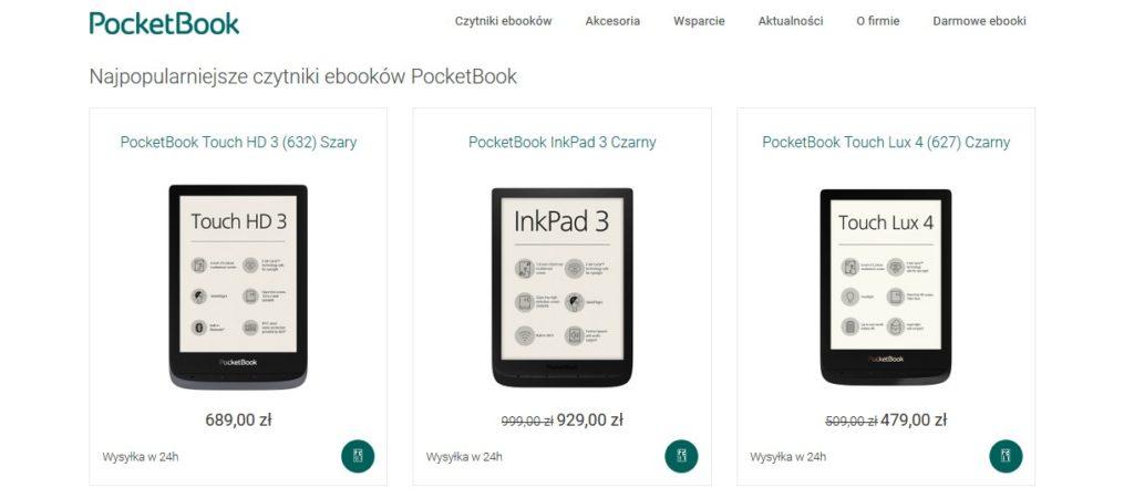Czytniki PocketBook do kupienia na oficjalnej stronie producenta