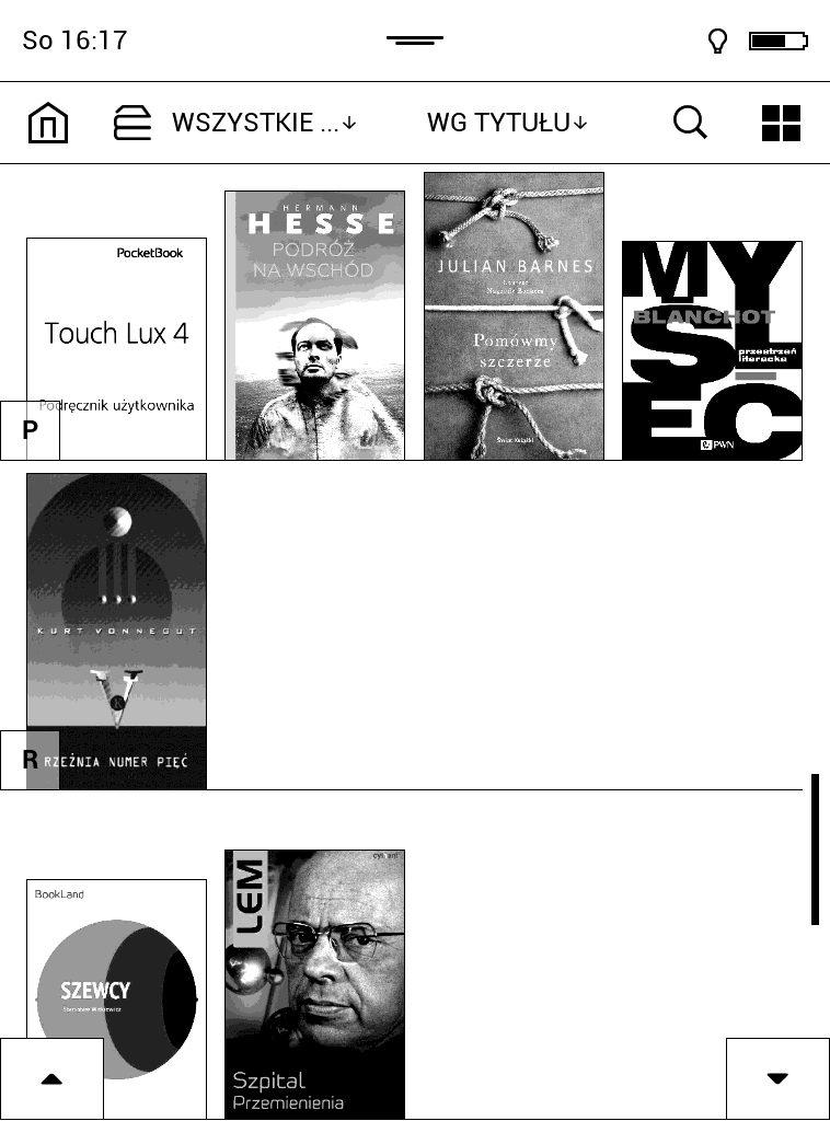 Biblioteka ebooków czytnika elektronicznego
