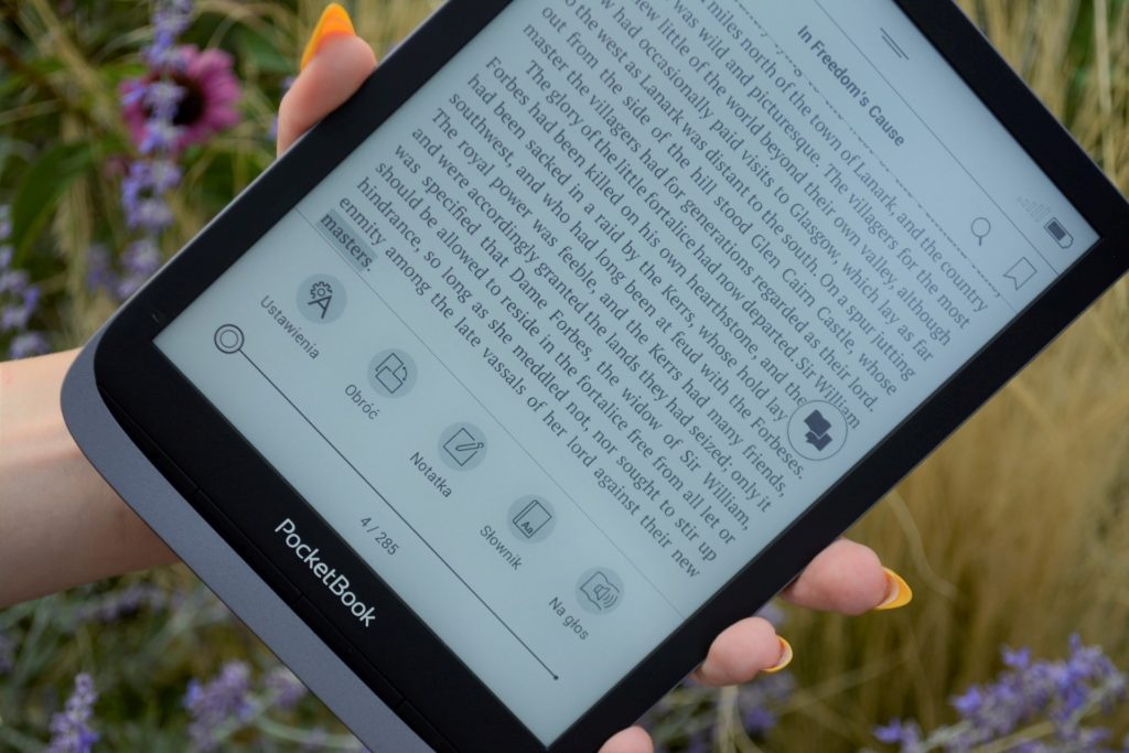 Regulacja podświetlenia na czytniku PocketBook