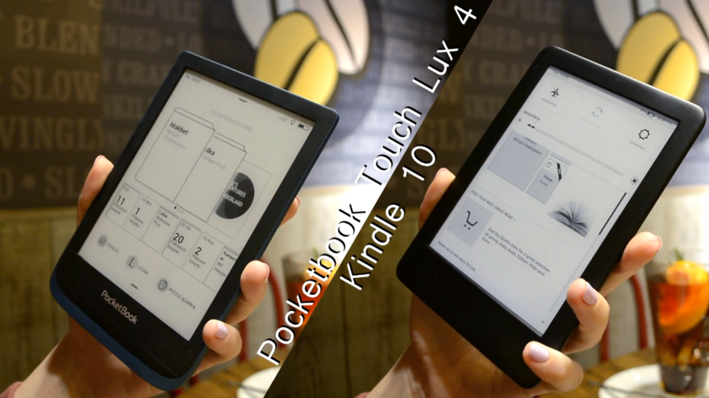 PocketBook Touch Lux 4 vs Kindle 10