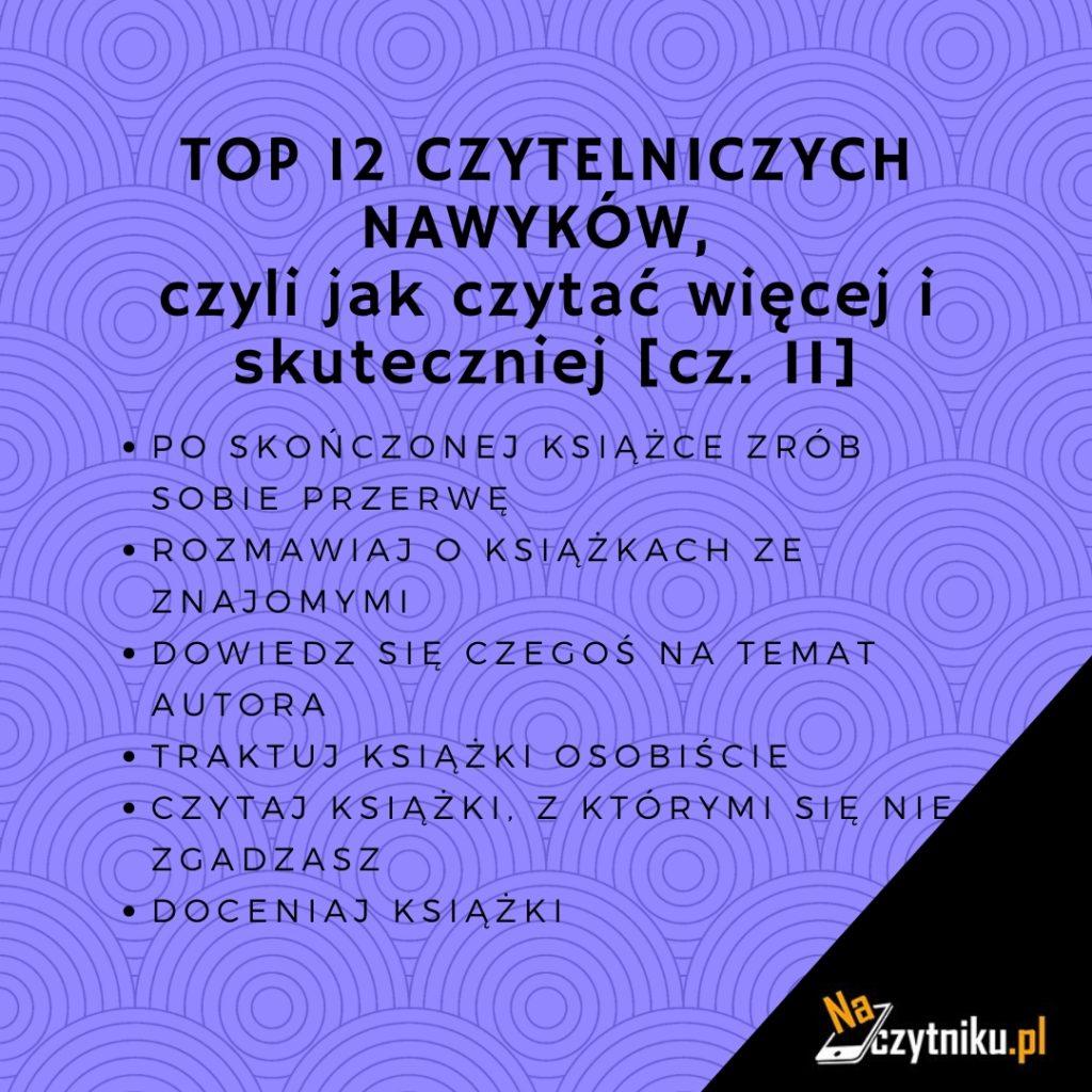 Top 12 czytelniczych nawyków