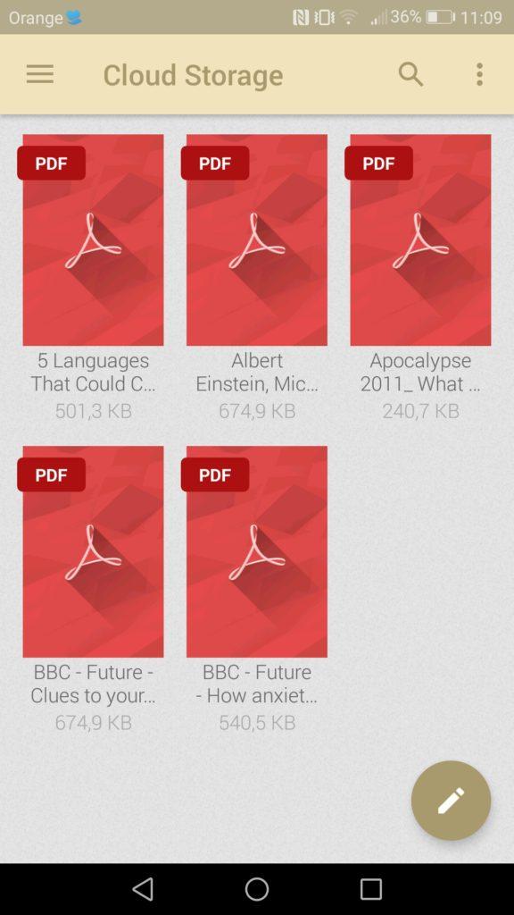 Podgląd artykułów w formacie PDF na Dropboxie