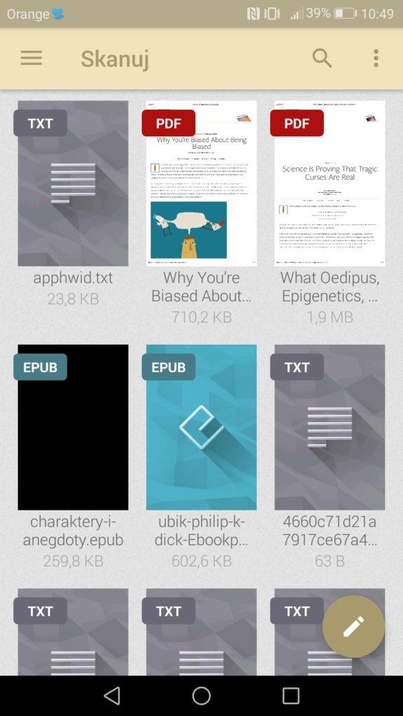 Pliki tekstowe w różnych formatach