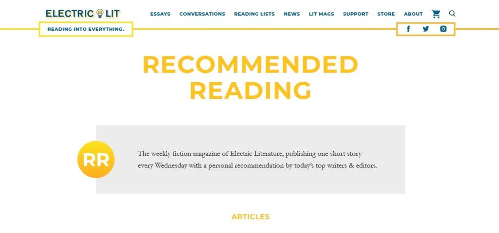 Krótkie opowiadania Electric Literature