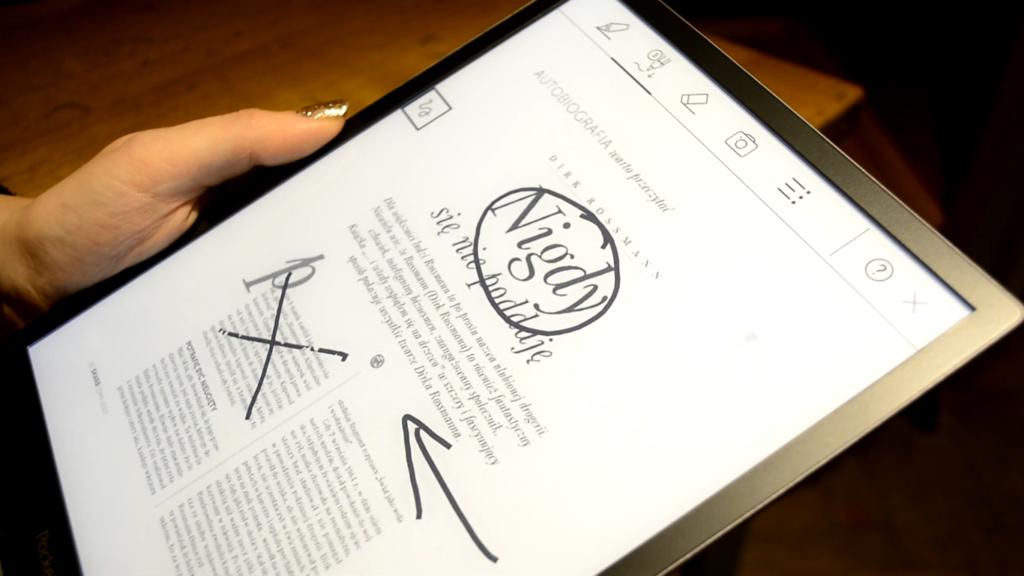 Robienie notatek na PocketBooku InkPad X