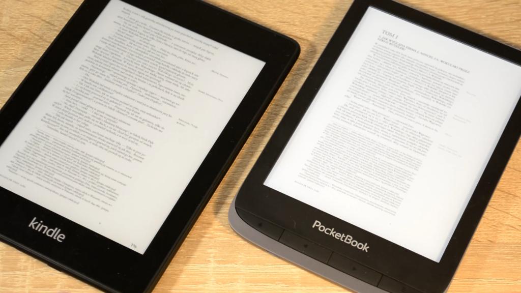 PocketBook Touch HD 3 vs Kindle Paperwhite 4 (obsługa plików PDF)