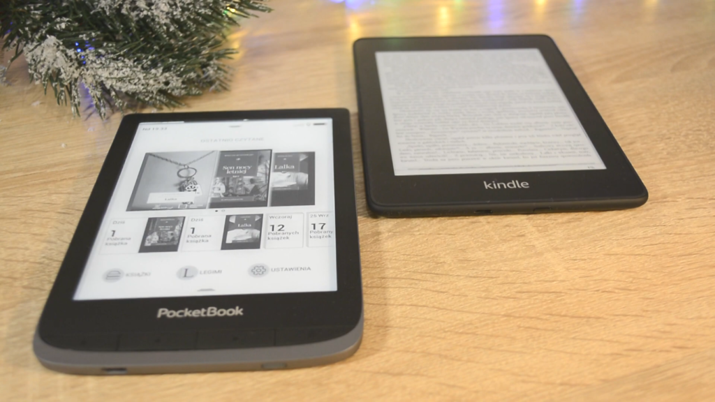 PocketBook Touch HD 3 vs Kindle Paperwhite 4 (design)