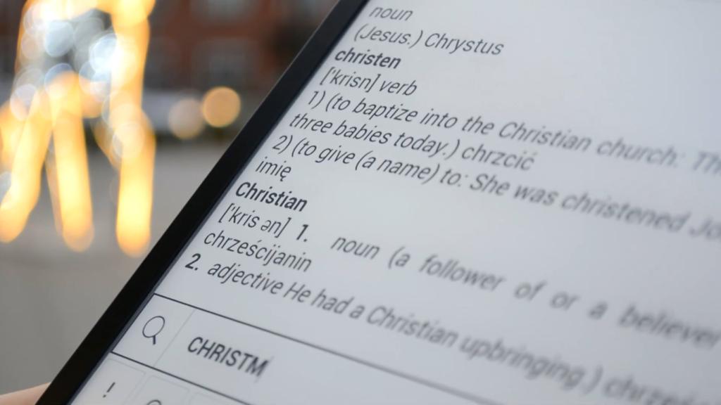 Słownik na PocketBooku InkPad X