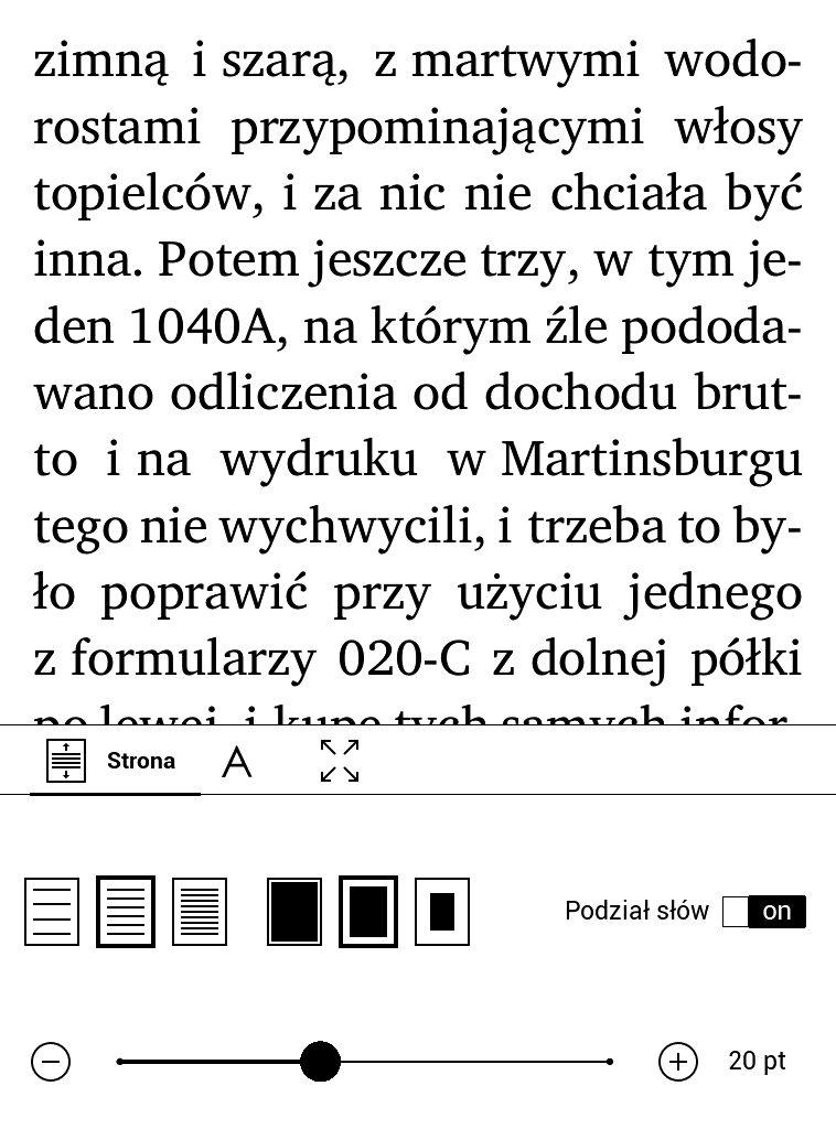 Zmiana wielkości czcionki na czytniku PocketBook