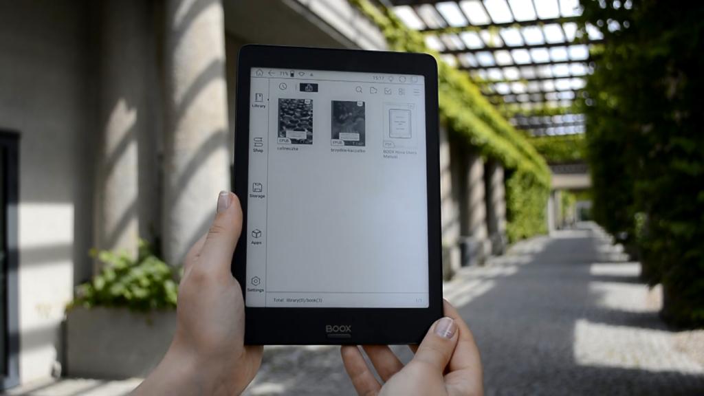 Biblioteka książek w wersji elektronicznej na Onyx Boox Nova