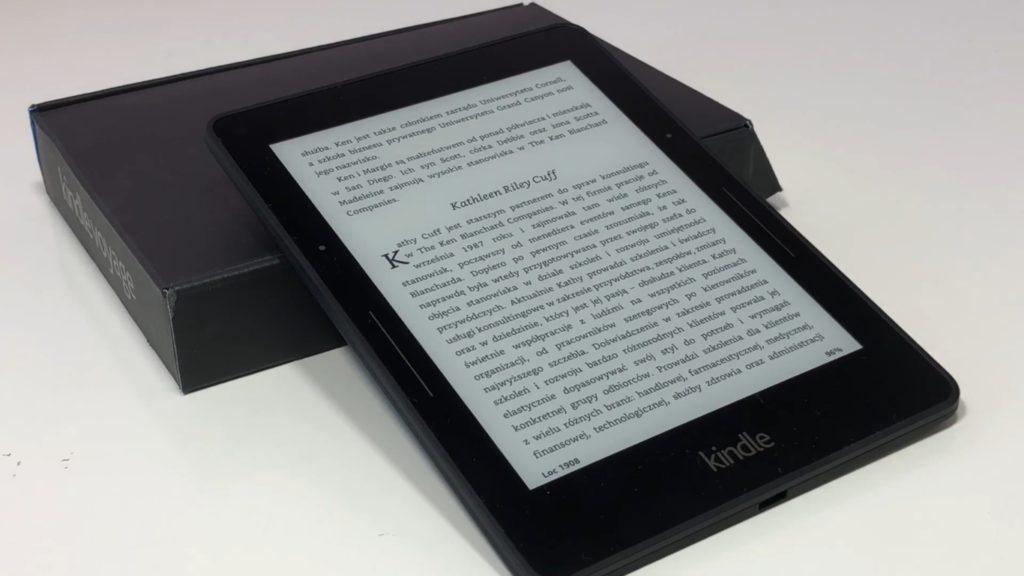 Kindle Voyage po wyjęciu z pudełka