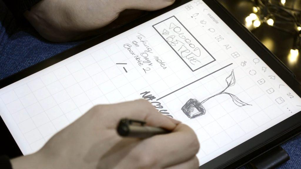 Rysowanie na czytniku Onyx Boox Note 2
