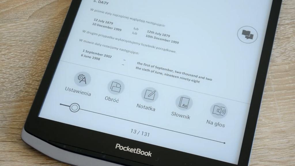5 narzędzi od obsługi plików PDF i książek EPUB na czytniku PocketBook InkPad X