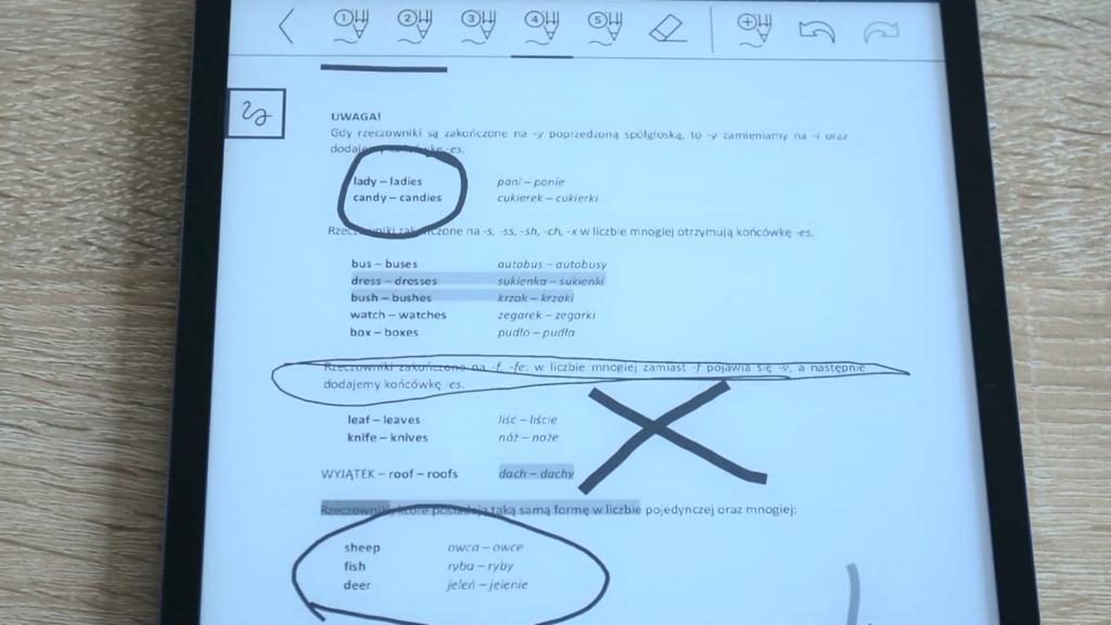 Rysowanie i robienie notatek na czytniku PocketBook InkPad X