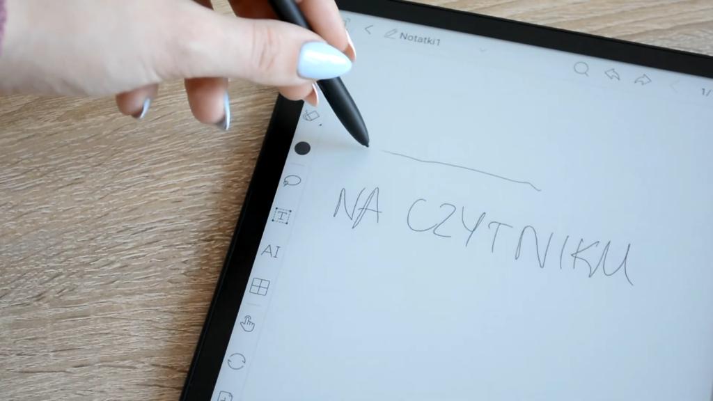 Robienie notatek na Onyx Boox Note 2