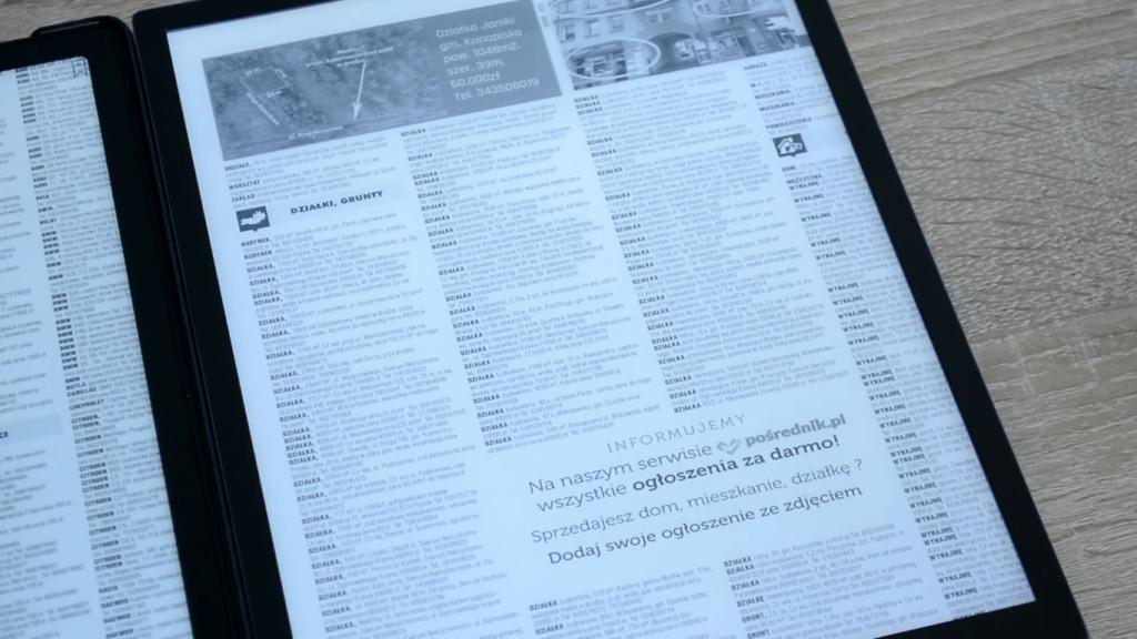 Wyświetlanie pliku PDF na PocketBooku InkPad X