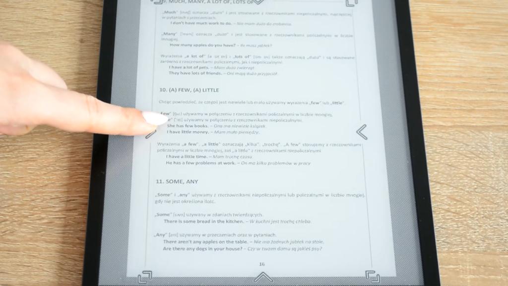Przycinanie marginesów na czytniku PocketBook InkPad X