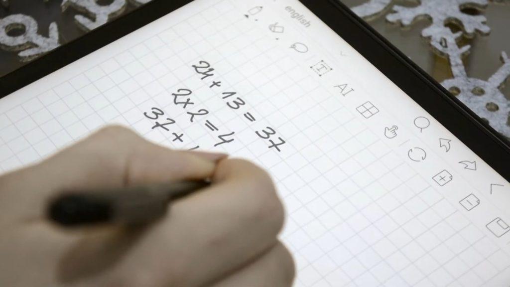 Robienie notatek na tle kratki na Onyx Boox Note 2