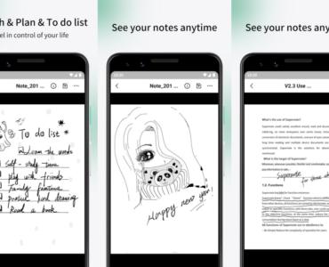 Zarządzanie elektronicznymi notatkami na smartfonie. Supernote Partner App