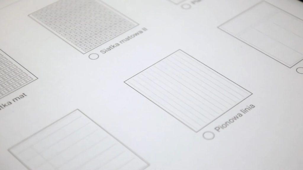Wybór szablonów graficznych na Onyx Boox Note 2
